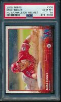 2015 Topps Series 1 #300 Mike Trout PSA 10 Gem Mint Card