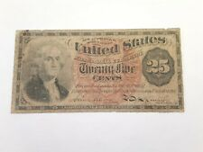 1863 25 Cent - 4th Issue - Fractional Currency