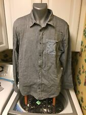 Oakley Men's Button Down Long Sleeve Shirt Large Gray Cotton