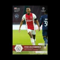 2020 Topps Now UCL UEFA Champions League **RYAN GRAVENBERCH** AJAX RC INVEST