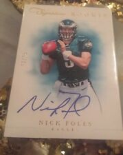 2012 Panini Prime Signatures Nick Foles Rare On Card Rookie Gold Auto 13/25 Mvp