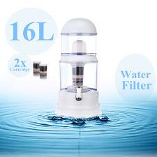 16L 8 Stage Water Filter Distiller Purifier Ceramic Carbon Purify Bottle Jug