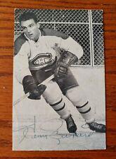 VINTAGE HENRI RICHARD AUTOGRAPHED MONTREAL CANADIENS HOCKEY POSTCARD NHL SP