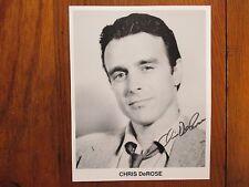 "CHRIS  DeROSE (""General  Hospital"") Signed  8 X 10  Black  and  White  Photo"