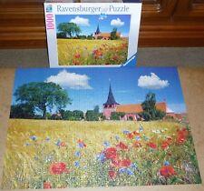 1000 T. Ravensburger Puzzle << Kirche auf Bornholm, Dänemark >> - vollständig -