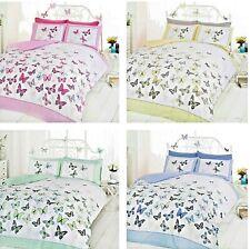 Flutter Butterflies Quilt Cover Reversible Butterfly Bedding Single Double King