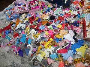 Huge Lot:1960's and up Barbie & Friends Clothing,Accessories,Dolls,Cases