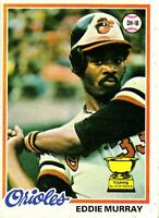 1978 Topps Eddie Murray Rookie Card #36 Baltimore Orioles