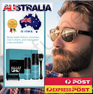 45 ml Beard Growth Kit Gift Set with Roller Activator Serum Comb and Oil Styling