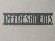 REFRESHMENTS Movie Film Strip Wood Wall Word Sign Art Decor Movies Reel