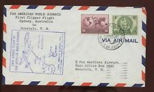 Australia First Clipper Flight Cover 1947 Sydney to Honolulu, Hawaii with b/s