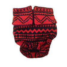 Dog Diapers - Made in USA - Red and Black Southwest Washable Dog Diaper Dog N...