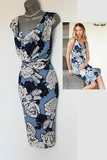 Phase Eight Dahlia Floral Print Silky Jersey Cowl Neck Pencil Dress UK10  38 ��99