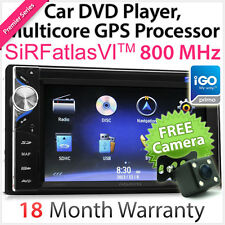 "6.2"" Car DVD GPS MP3 Player Sat Nav USB Double Din Head Unit Stereo Radio iGO TU"