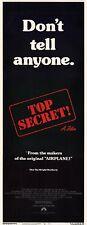 TOP SECRET Movie POSTER 14x36 Insert Val Kilmer Lucy Gutteridge Christopher