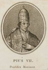 "Bildnis des Papstes ""Pius VII."" Pontifex Maximus, Radierung, um 1800, Original"