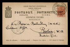 DR WHO 1900 FINLAND HELSINKI TO GERMANY POSTAL CARD STATIONERY C189684