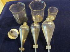 Vtg Laboratory Chemistry Glassware Beaker Funnel Lot Halloween One Withskeleton Sf