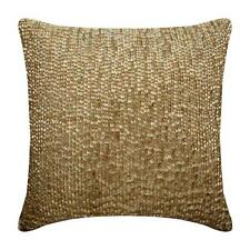 16x16 inch Pillowcase Gold Handmade, Silk Drops - Golden Drops
