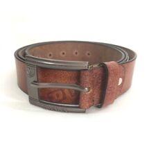 Men's Brown Diesel Leather Belt Size 38 To 42 Waist(503958)