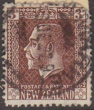 (LU66) 1915 NZ 3d brown KGV round corner space filler (H)