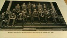1936 Irwin Pa. Visit Westmoreland Coal Co. Board of Directors Photo Poster Repo