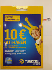 Turkcell Europe Prepaid Sim Karte inkl. Smart Plus Option Netz von D1 T-Mobile