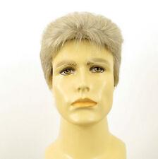 Perruque homme 100% cheveux naturel blanc méché gris DYLAN 51