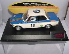 qq SPIRIT 0601304 SLOT CAR BMW 2002 #10 RALLY OLYMPIA 1972 TONY FALL - WOOD