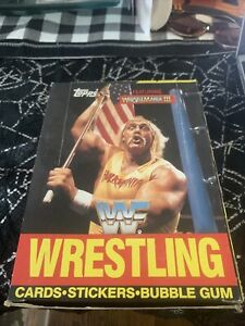 1987 TOPPS WWF WRESTLEMANIA III UNOPENED WAX BOX   36 PACKS   TOUGH TO FIND