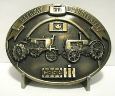 Case L & Farmall Regular Tractor Brass Belt Buckle 1987 Parts Trade Fair Canada
