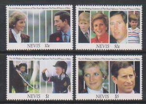 Nevis - 1991, Prince & Princess of Wales 10th Anniversary set - MNH - SG 627/30