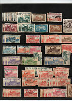 Timbres Tunisie avant indépendace : stock de multiples lot 2