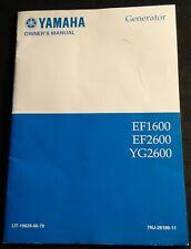 1997 YAMAHA PORTABLE GENERATOR EF1600, EF2600 & YG  MANUAL 19626-00-79 (449)