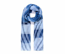 Blue Print Scarf Girls Silk Type Stylish Beautiful Navy UK STOCK Pretty New