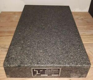 Tru Stone Black Steel Grey Granite Surface Plate 18x12x3 Lineout 18x12 Grade B