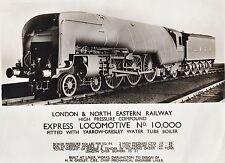 RARE Orig Photo - 1929 London & North Eastern Railway Express Locomotive RR Hush