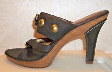 J. Vincent Brown Leather Heel Sandals  8 M