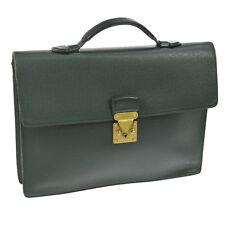 AUTHENTIC LOUIS VUITTON SERVIETTE KOURAD BUSINESS HAND BAG TAIGA M30074 BT13570
