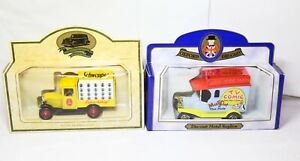 Oxford Diecast Muffin The Mule Van & Lledo Schweppes Van - Mint In Boxes