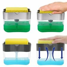 Liquid Soap Pump Dispenser with Sponge Holder Soap Dishes Dispensers for Kitchen