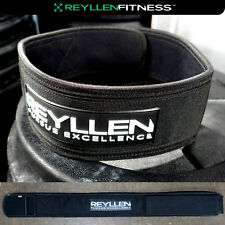 "Reyllen Venor™ 4"" Velcro Nylon Weightlifting Belt Back Support CrossFit Fitness"