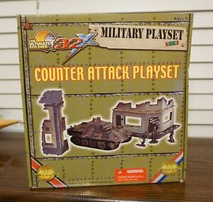 ULTIMATE SOLDIER 1:32 Counter Attack Playset With Panther, No. 20420 NEW IN BOX