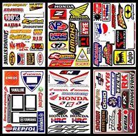Set Honda Wings Motorcycle Bike Supercross MTB MX Autocollant Helmet FX Stickers