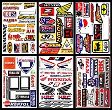 Set 6 Honda Wings Motorcycle Bike Motocross Autocollant Helmet Decals Stickers