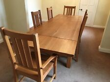 Solid Oak Dining Table - 6 chairs - excellent condition