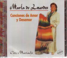 Maria De Lourdes Canciones de amor y Desamor CD New Nuevo Sealed