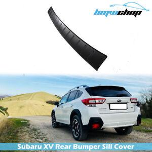 18-20 Fit For Subaru XV Crosstrek Rear Bumper Sill Cover Step Plate Trim Guard