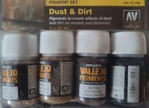 VAL73190 - AV Vallejo Pigments Set - Dust & Dirt