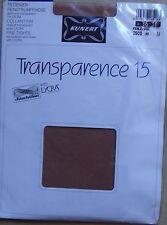 ) vintage, collant neuf KUNERT TRANSPARENCE 15 chinchillan lycra marron 36-38
